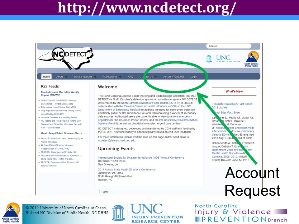 http://www.ncdetect.org/ Account Request
