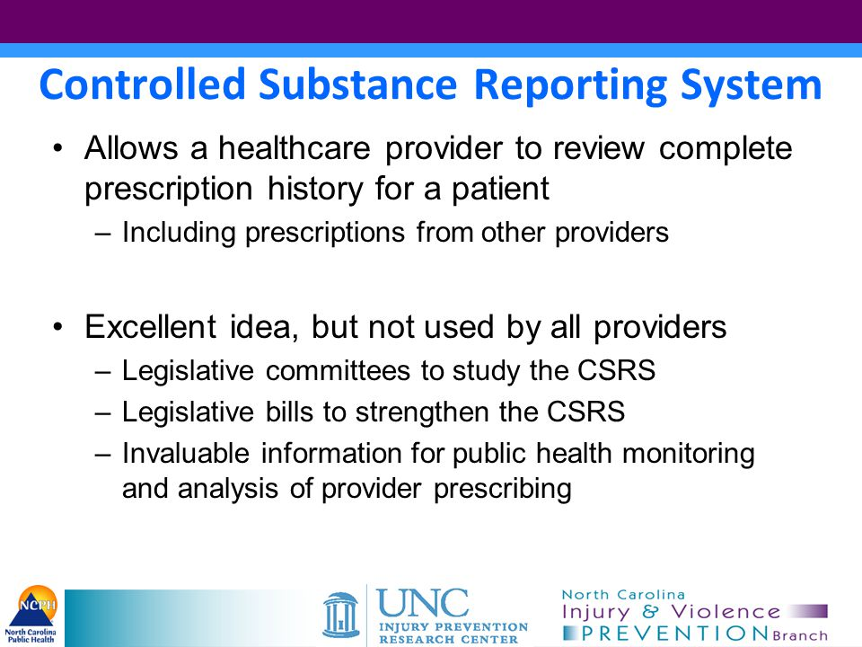 Controlled Substance Reporting System