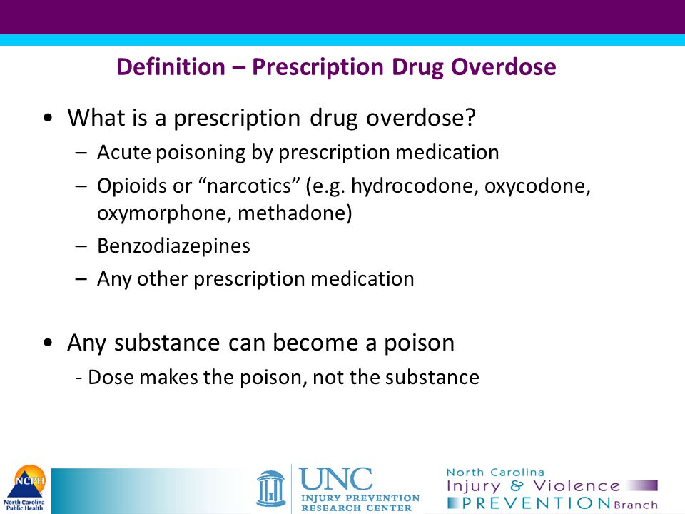 Definition – Prescription Drug Overdose