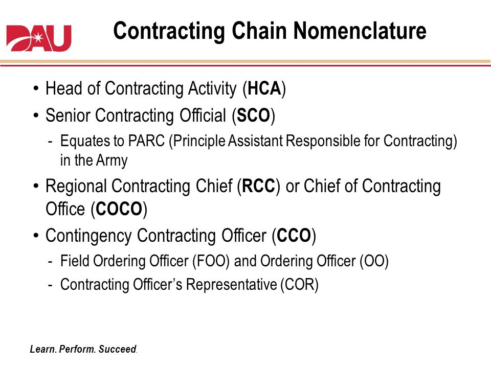 Contracting Chain Nomenclature