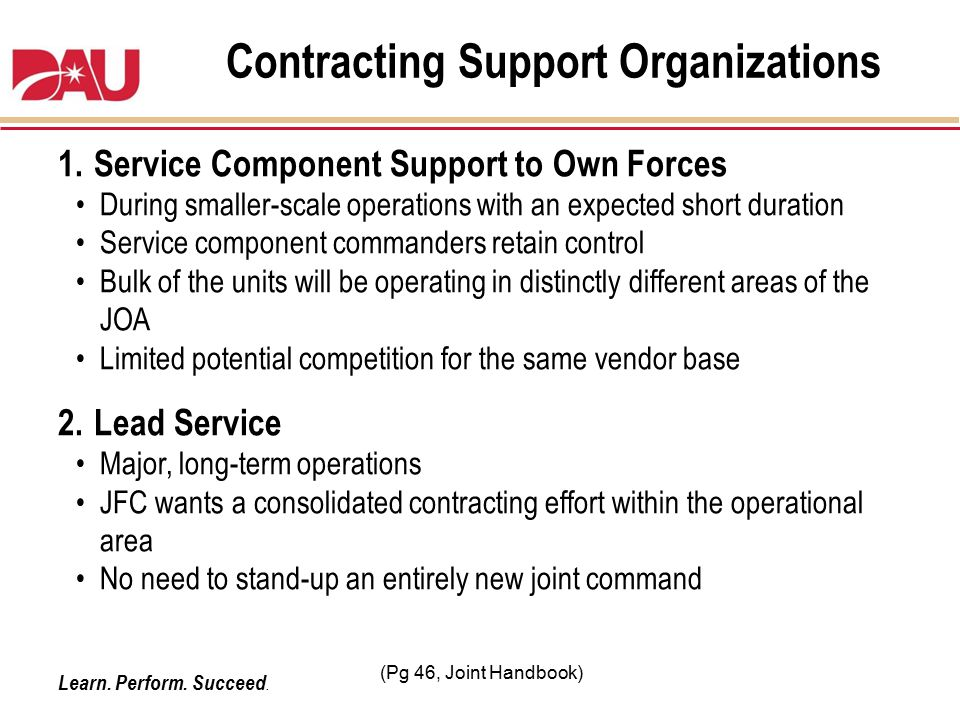 Contracting Support Organizations