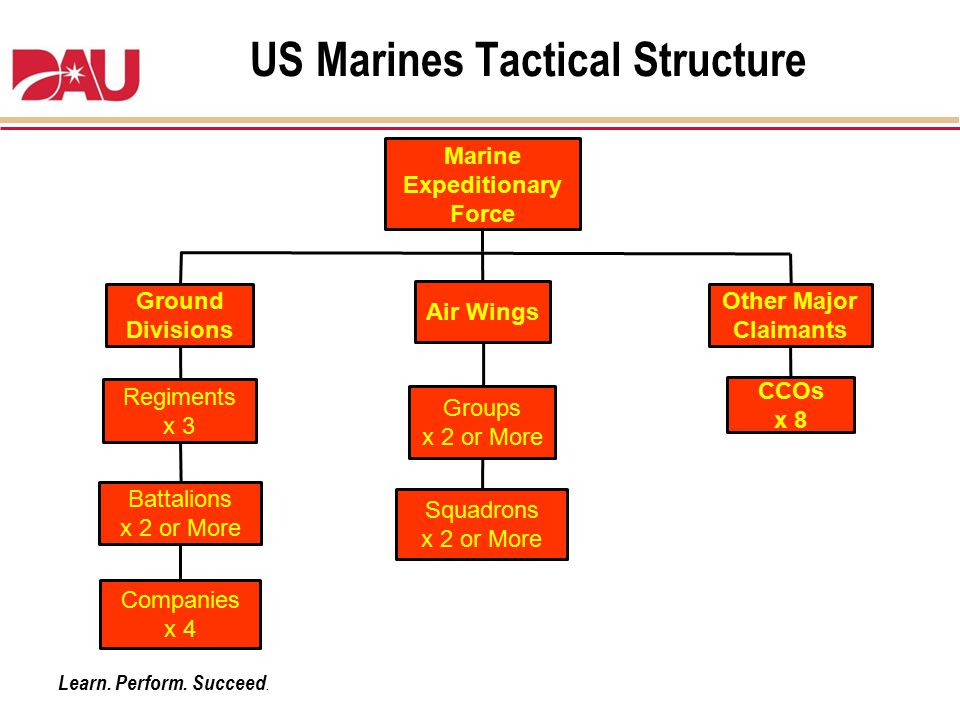 US Marines Tactical Structure