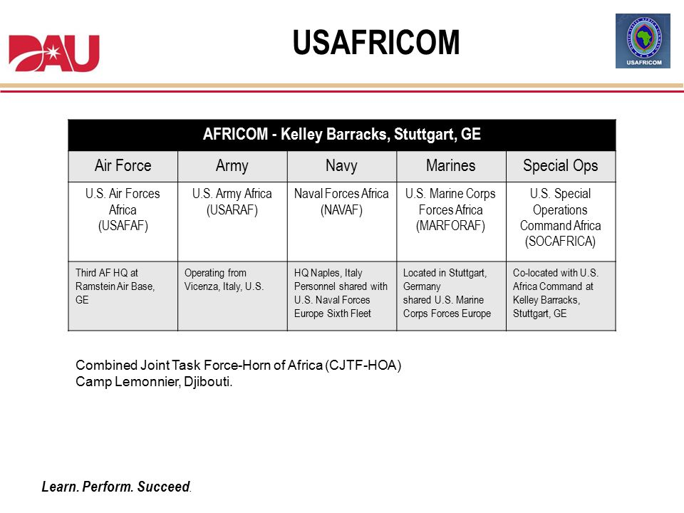 AFRICOM - Kelley Barracks, Stuttgart, GE