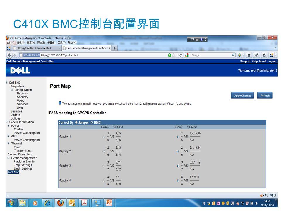 C410X BMC控制台配置界面