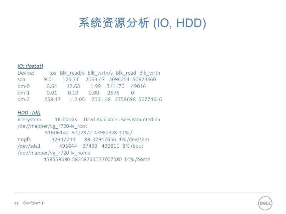 系统资源分析 (IO, HDD) IO: (iostat)