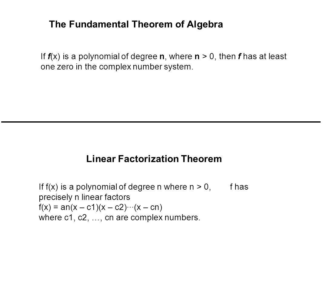 Linear Factorization Theorem