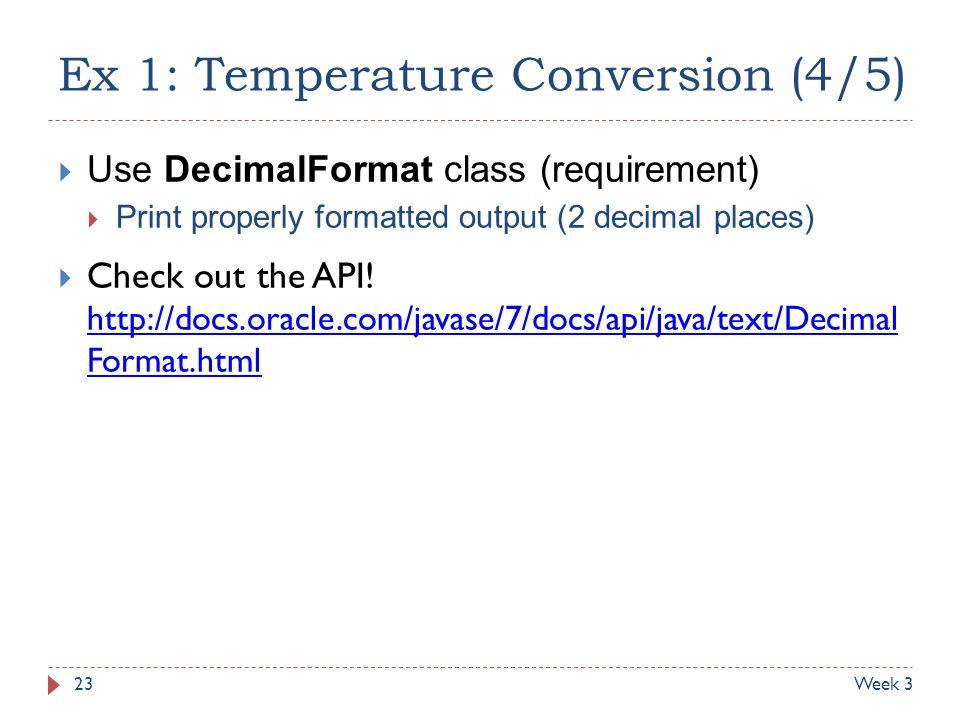 Ex 1: Temperature Conversion (4/5)