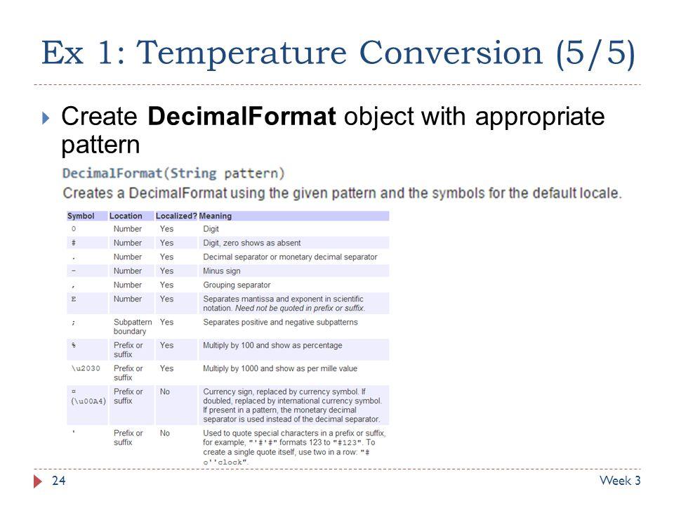 Ex 1: Temperature Conversion (5/5)