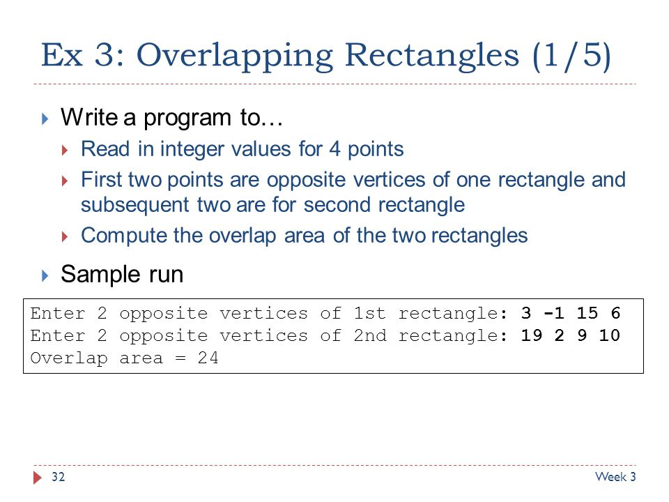 Ex 3: Overlapping Rectangles (1/5)