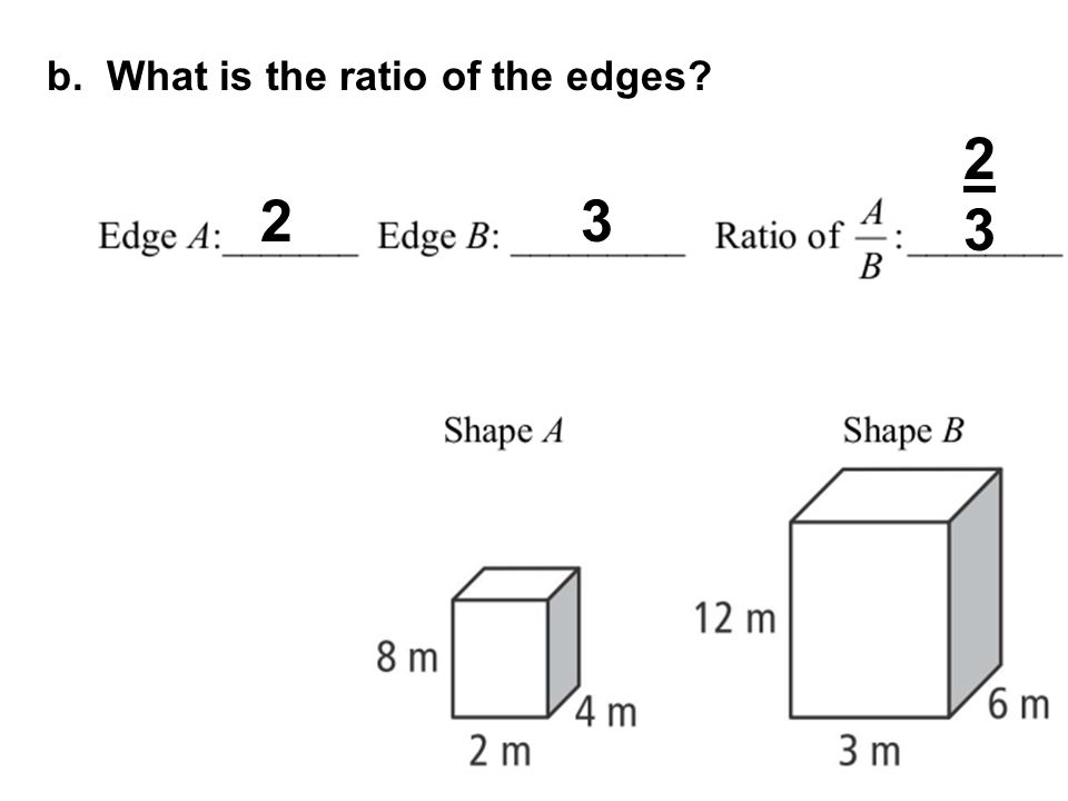 b. What is the ratio of the edges
