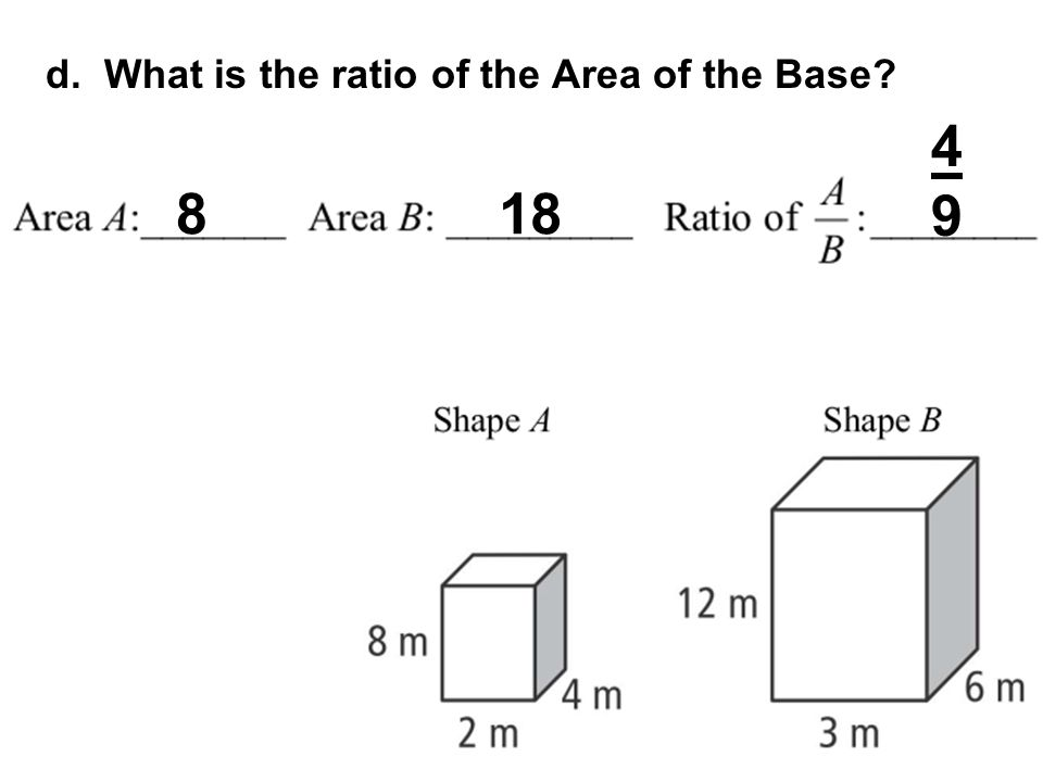d. What is the ratio of the Area of the Base