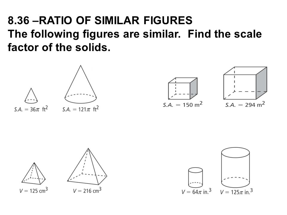 8.36 –RATIO OF SIMILAR FIGURES