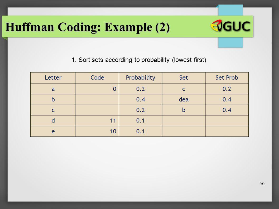 Huffman Coding: Example (2)