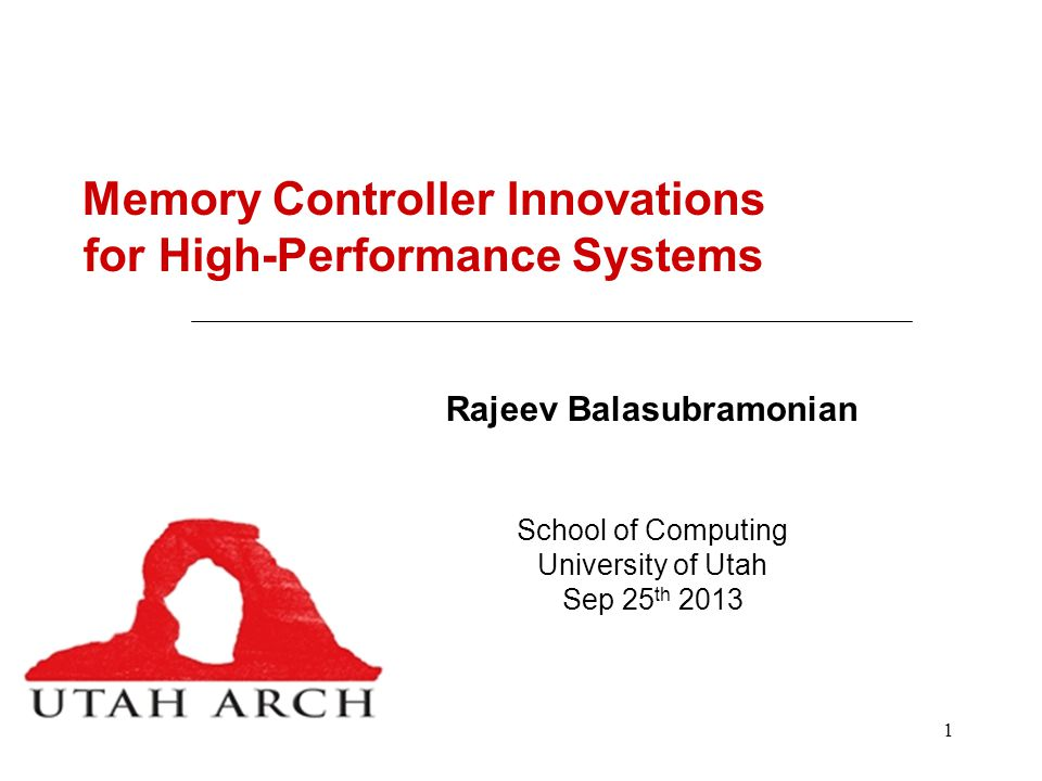 Memory Controller Innovations for High-Performance Systems
