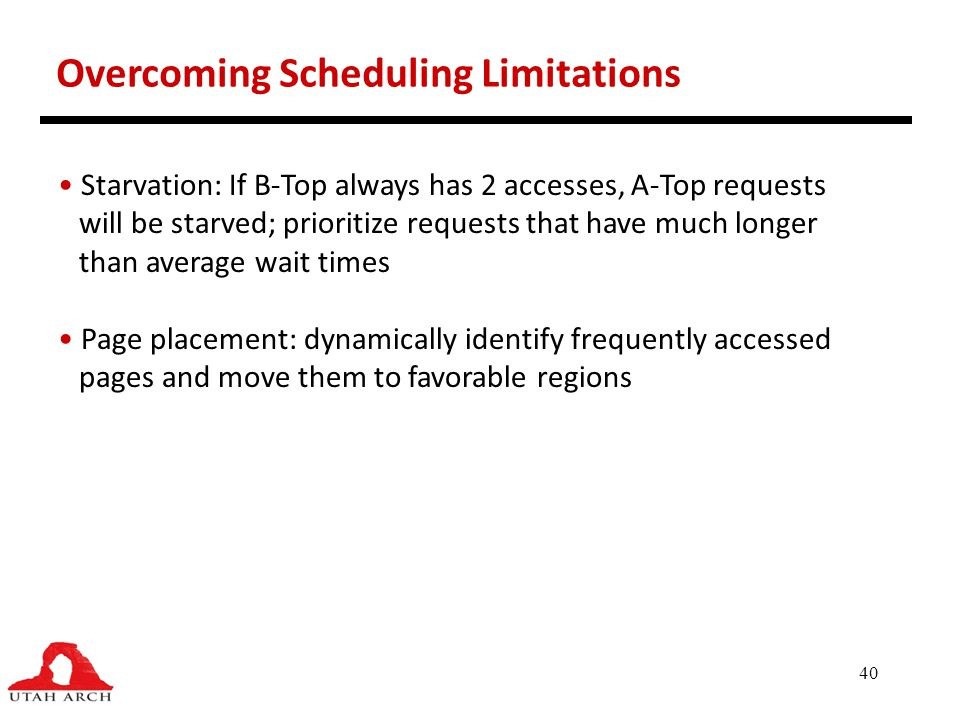 Overcoming Scheduling Limitations