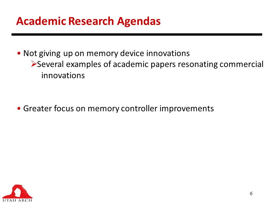 Academic Research Agendas