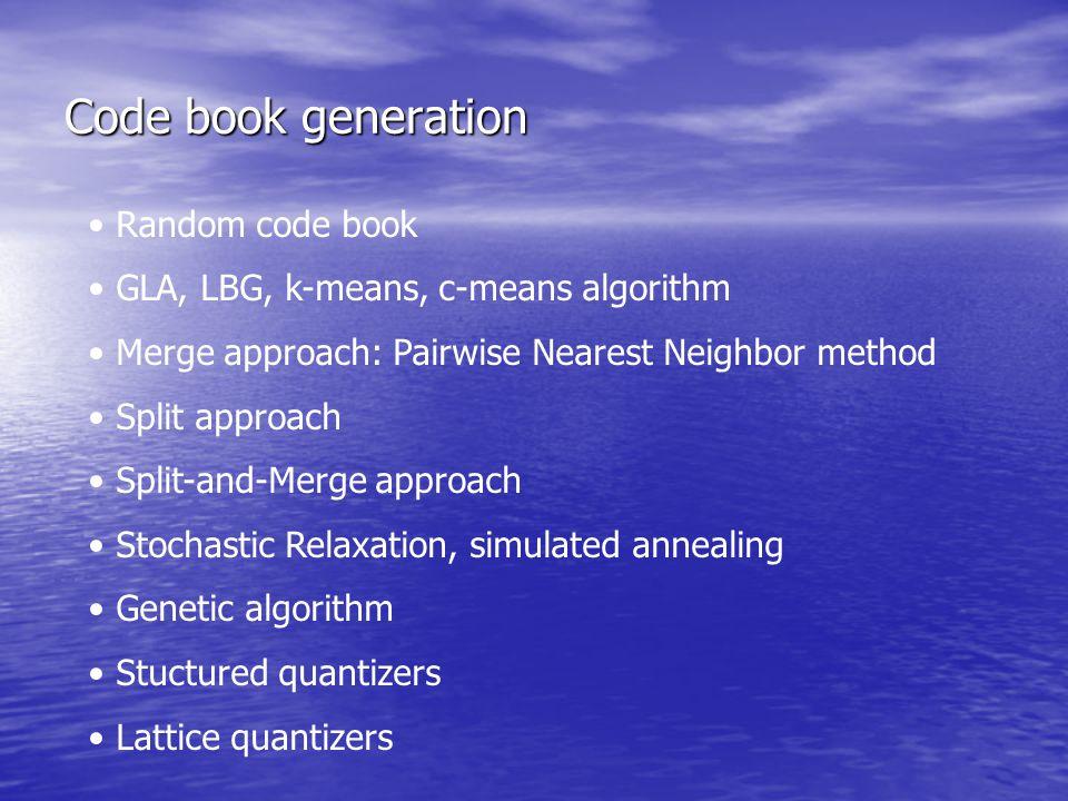 Code book generation Random code book