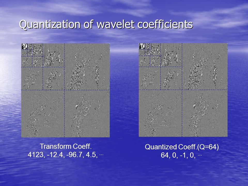 Quantization of wavelet coefficients