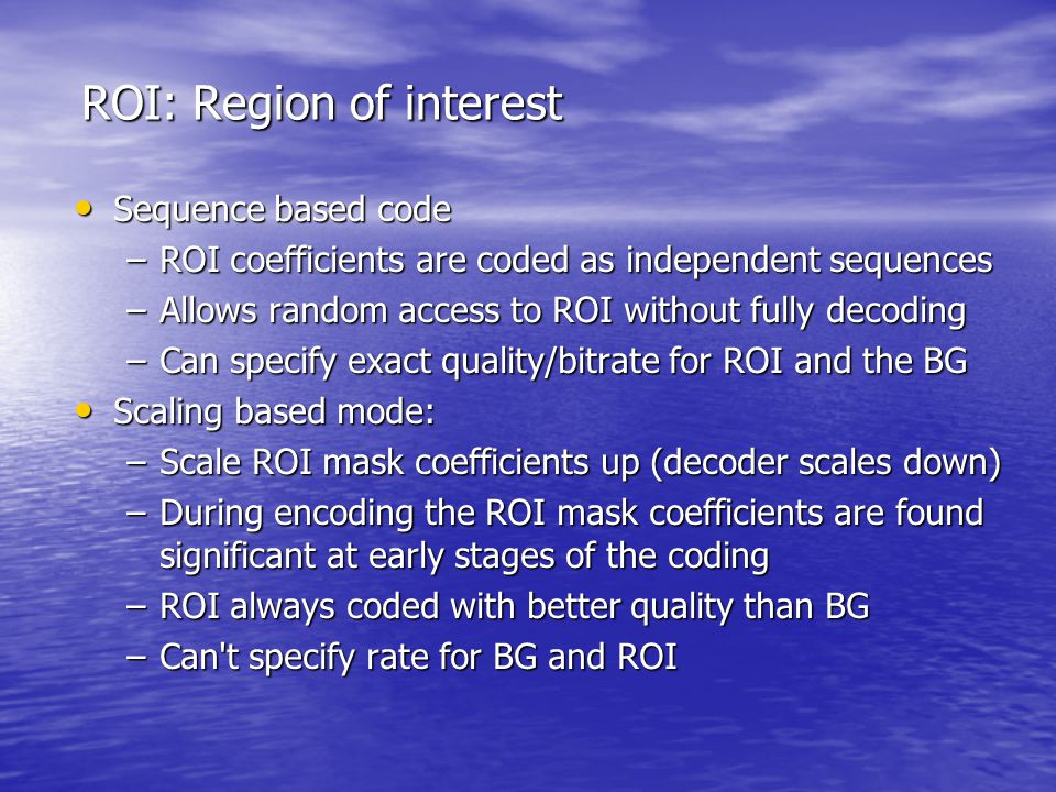 ROI: Region of interest