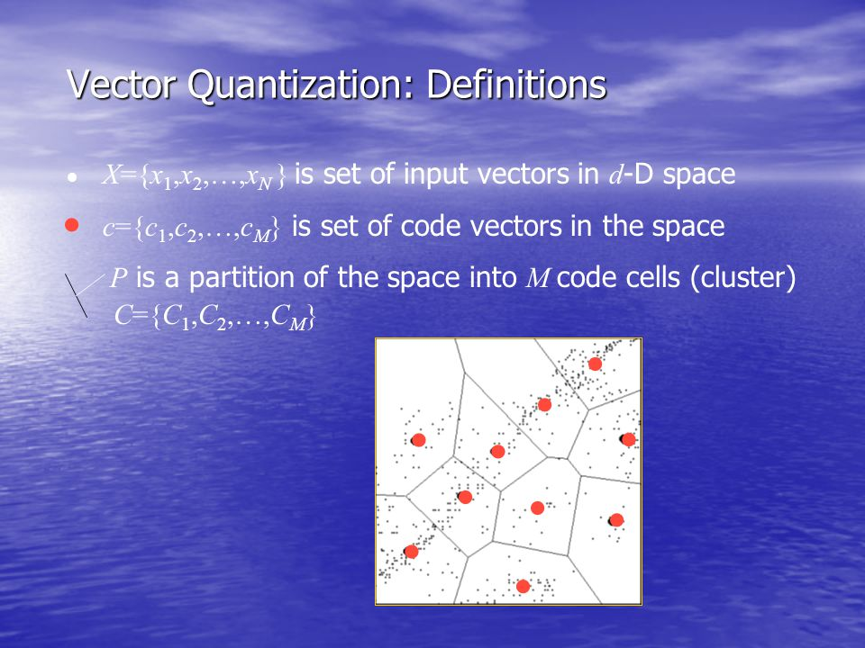 Vector Quantization: Definitions