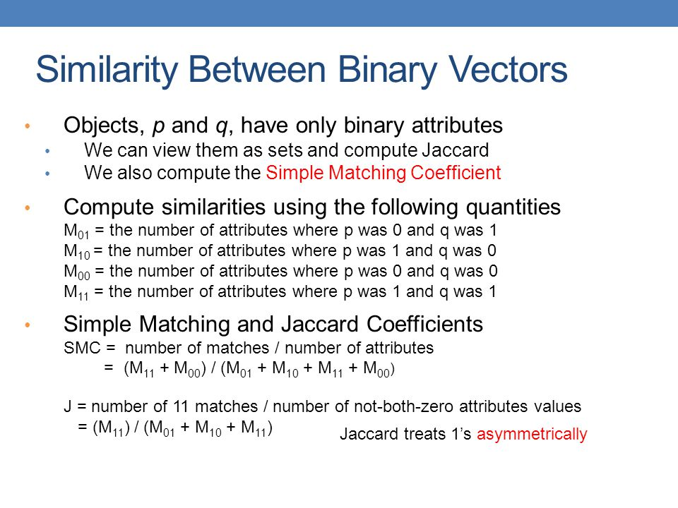 Similarity Between Binary Vectors
