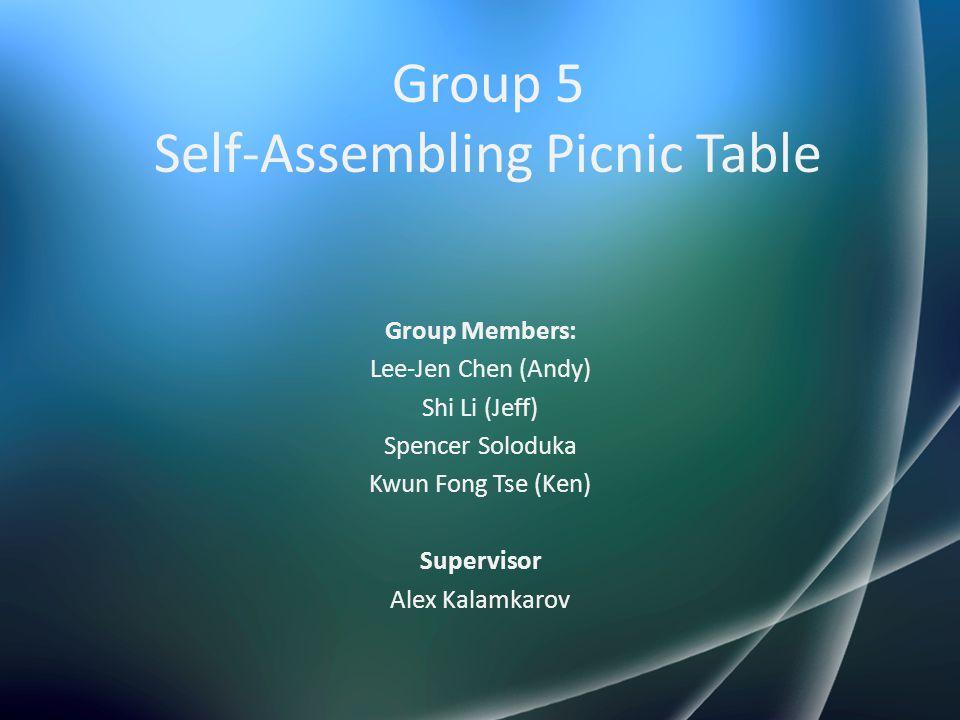 Group 5 Self-Assembling Picnic Table