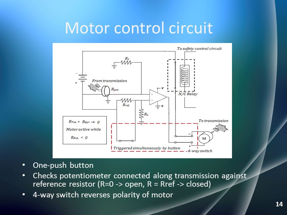 Motor control circuit One-push button