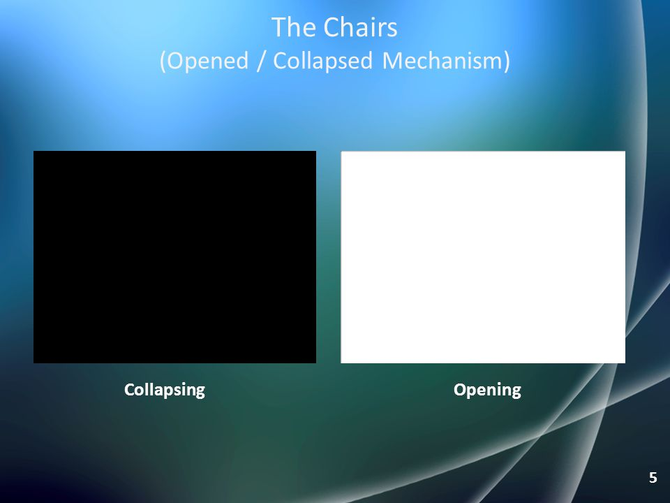 The Chairs (Opened / Collapsed Mechanism)