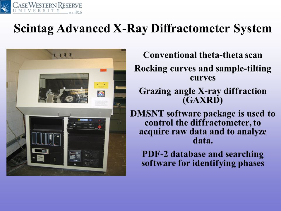 Scintag Advanced X-Ray Diffractometer System