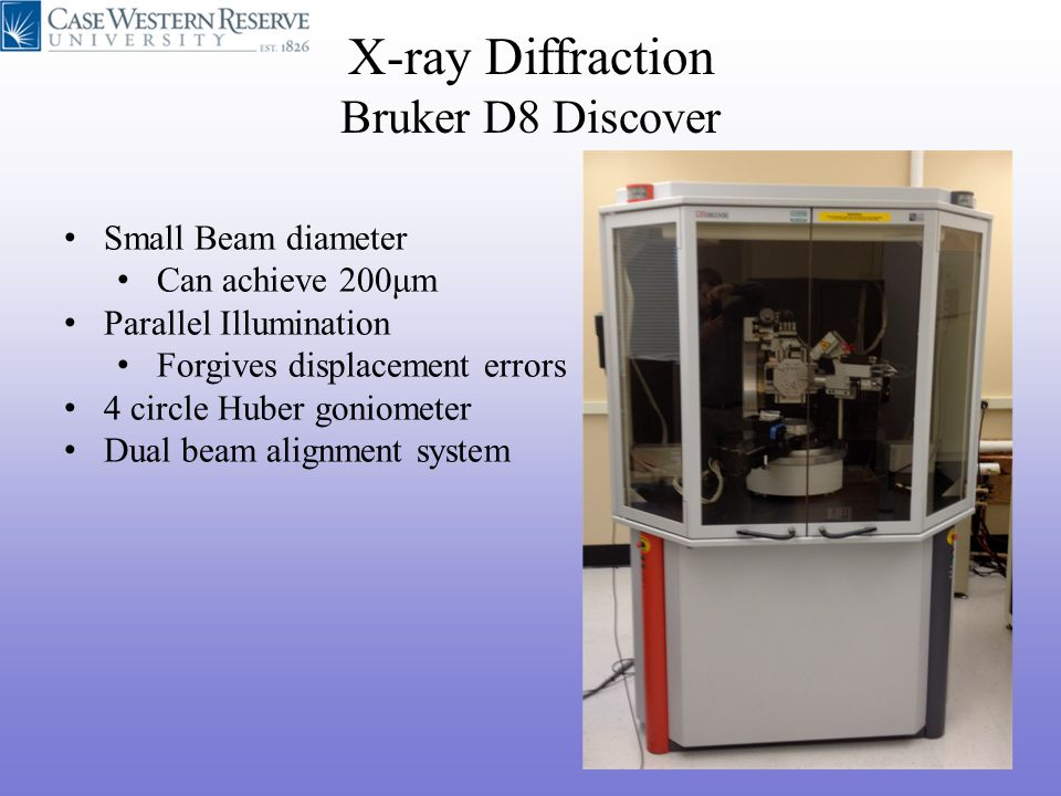 X-ray Diffraction Bruker D8 Discover