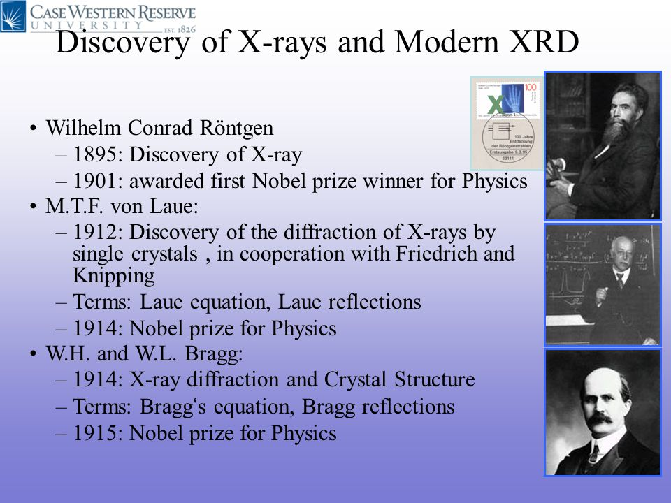 Discovery of X-rays and Modern XRD