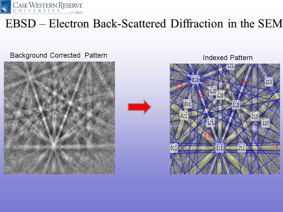 EBSD – Electron Back-Scattered Diffraction in the SEM
