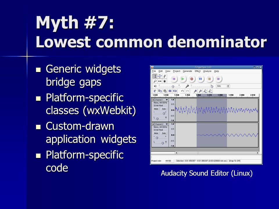 Myth #7: Lowest common denominator