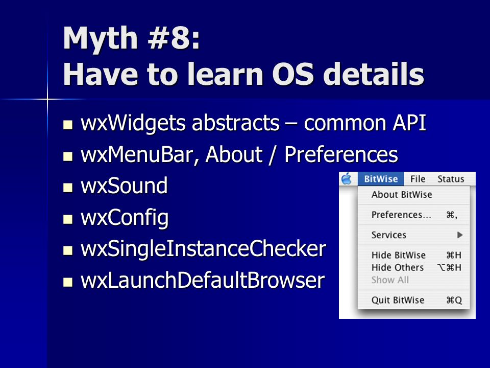 Myth #8: Have to learn OS details