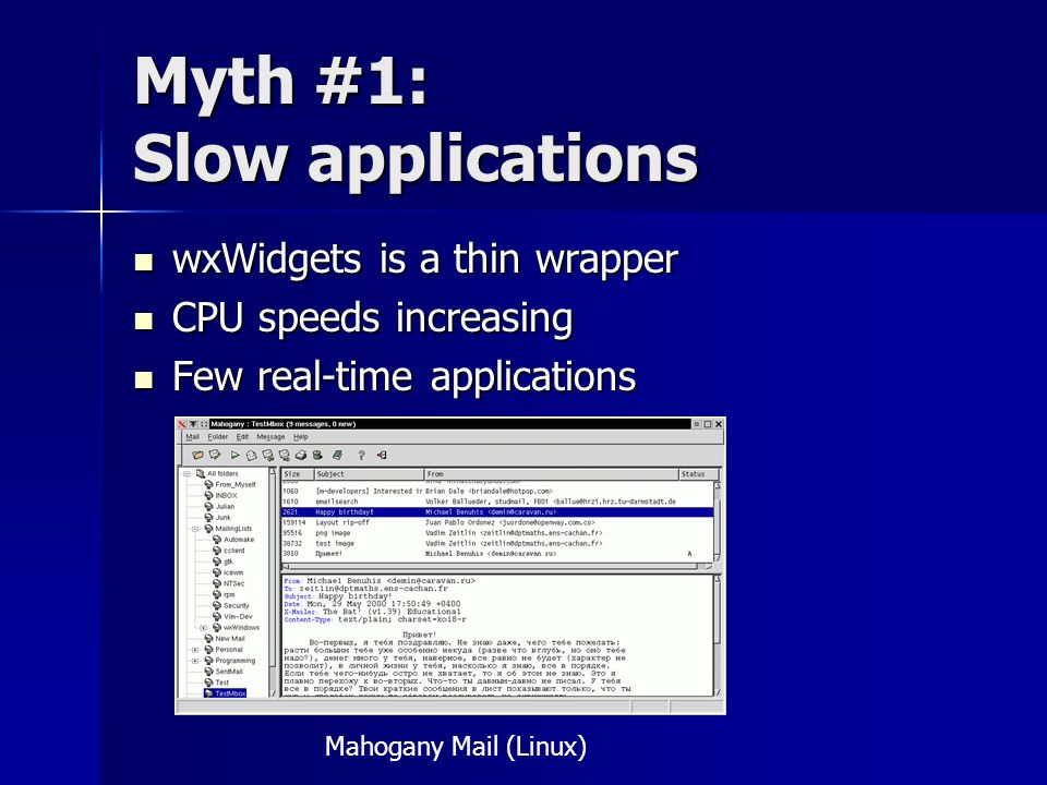 Myth #1: Slow applications