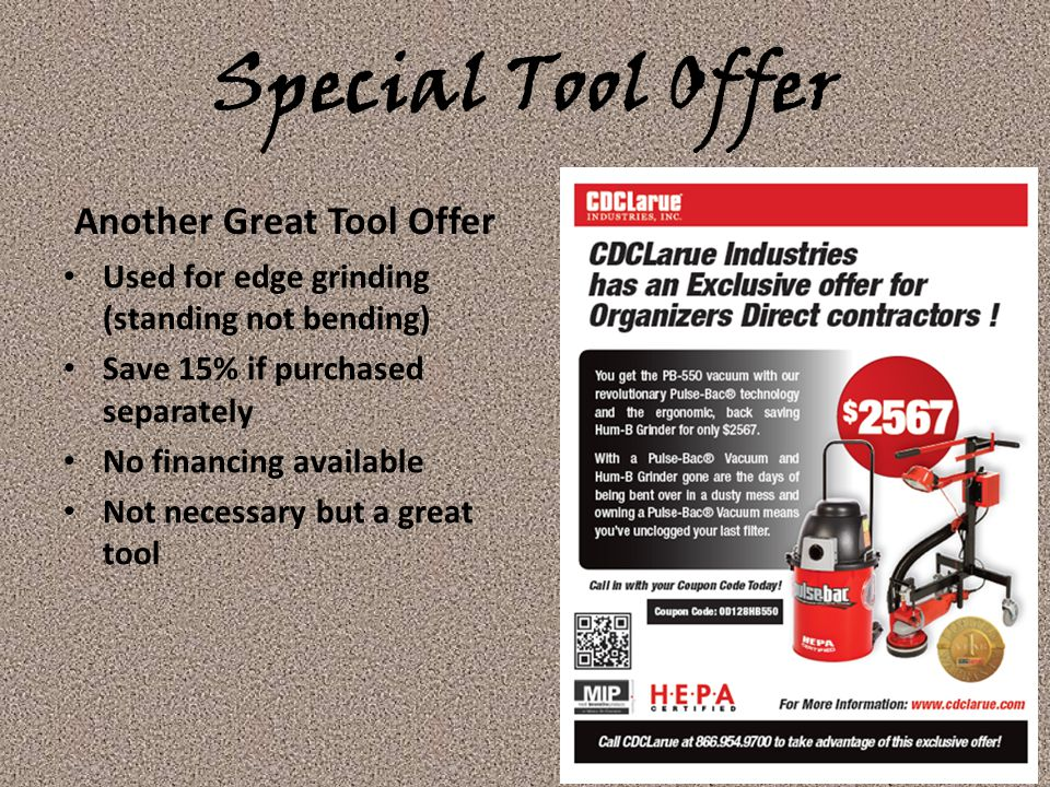 Another Great Tool Offer