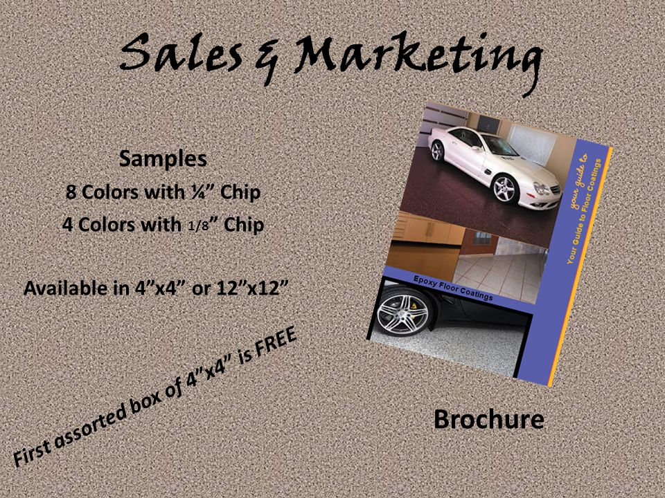 Sales & Marketing Brochure Samples 8 Colors with ¼ Chip