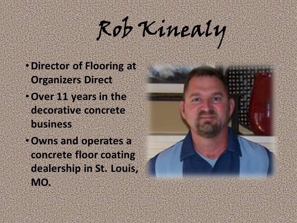 Rob Kinealy Director of Flooring at Organizers Direct