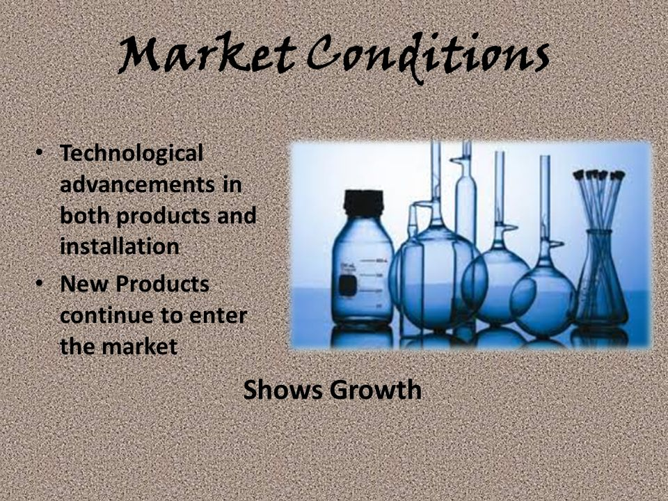 Market Conditions Shows Growth
