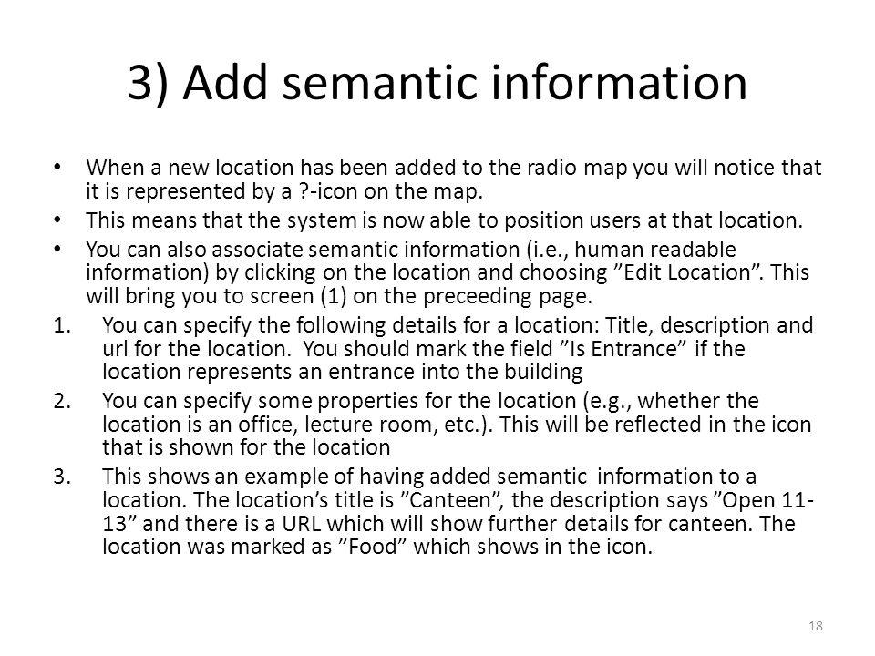 3) Add semantic information