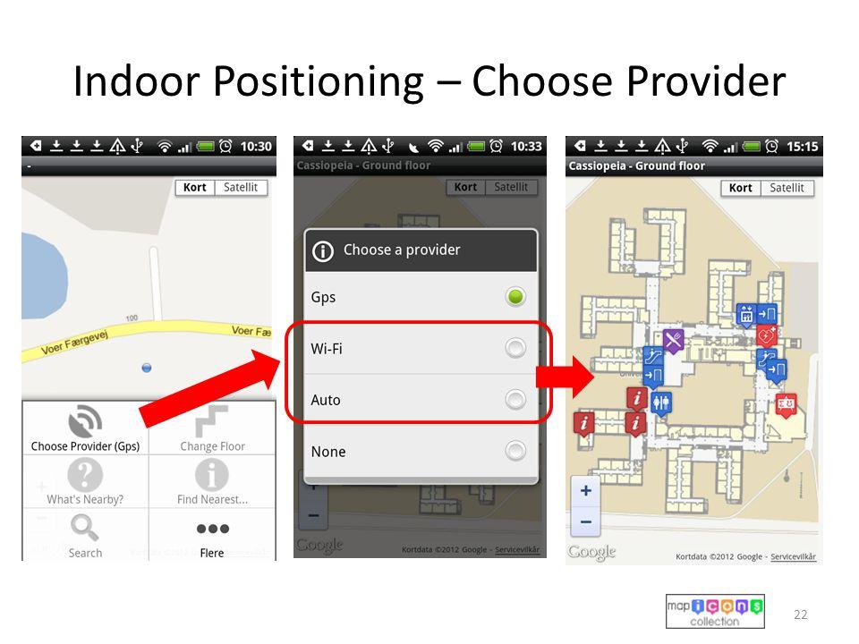Indoor Positioning – Choose Provider