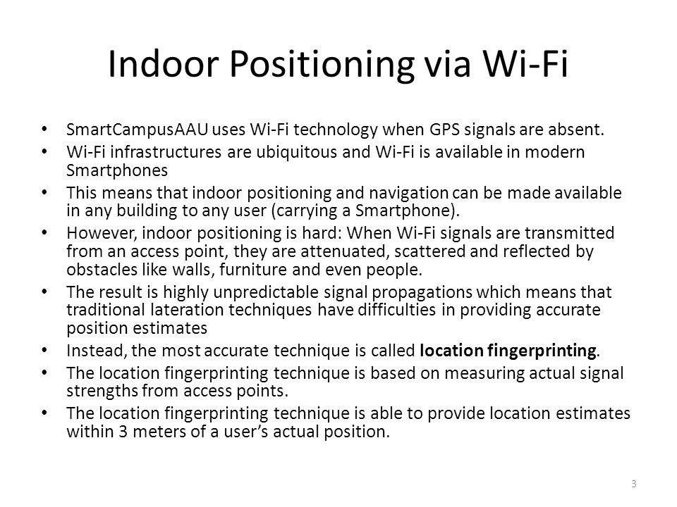 Indoor Positioning via Wi-Fi