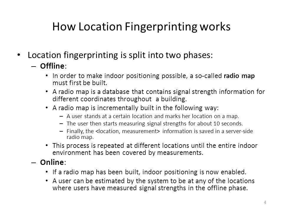 How Location Fingerprinting works