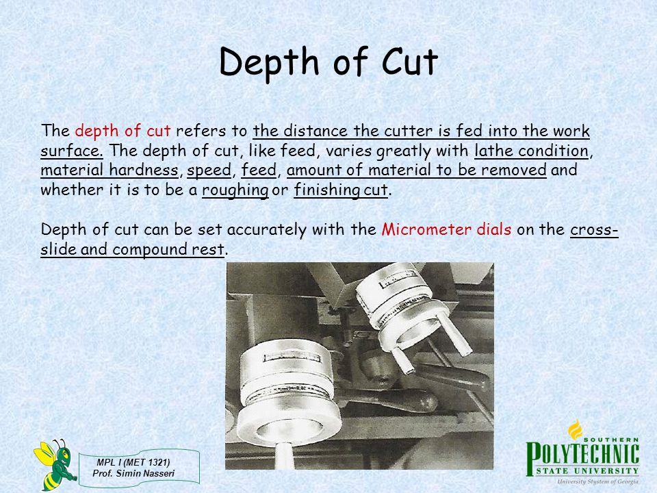 Depth of Cut