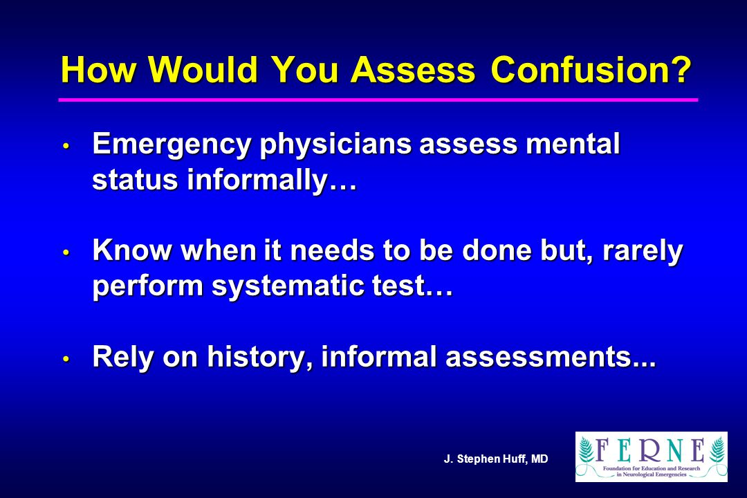 How Would You Assess Confusion
