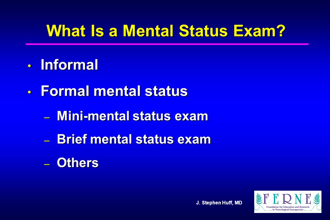 What Is a Mental Status Exam