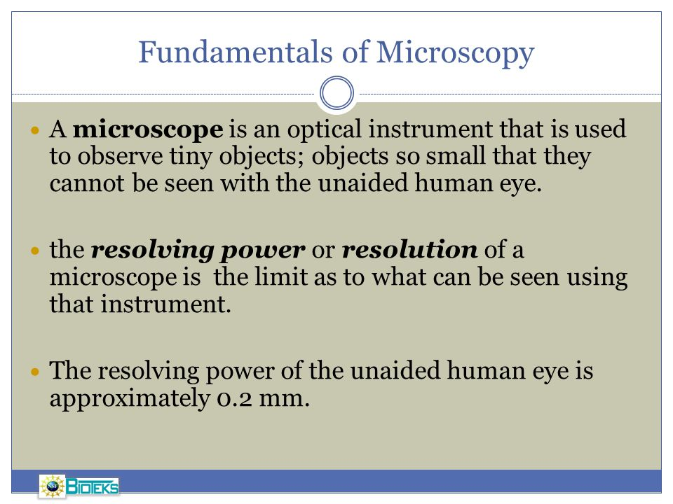 Fundamentals of Microscopy