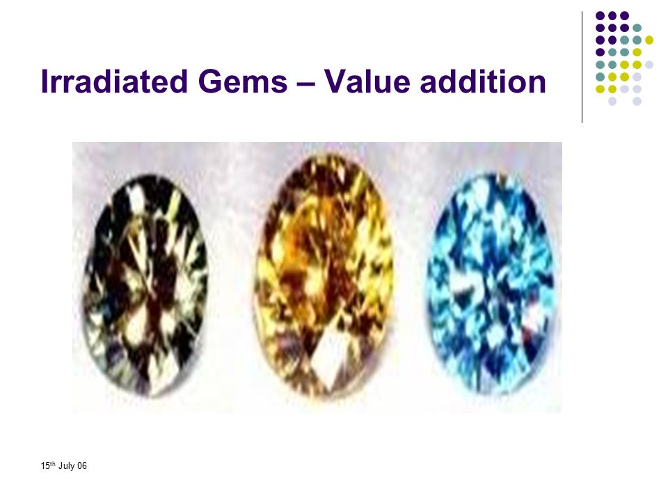 Irradiated Gems – Value addition