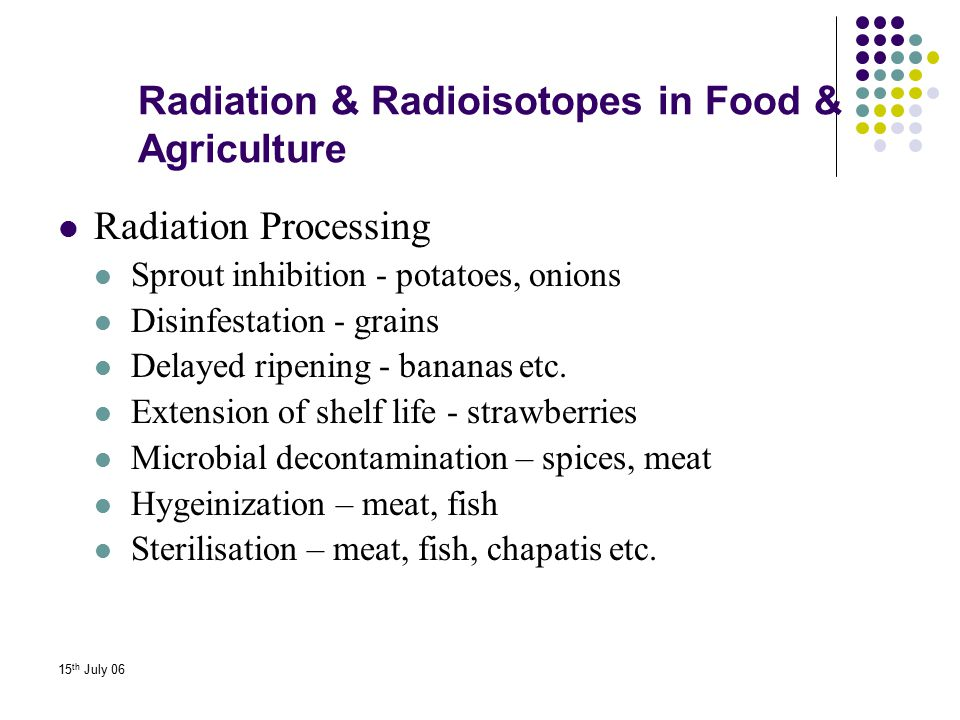 Radiation & Radioisotopes in Food & Agriculture