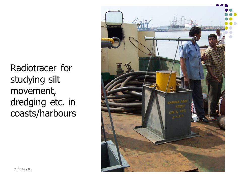 Radiotracer for studying silt movement, dredging etc